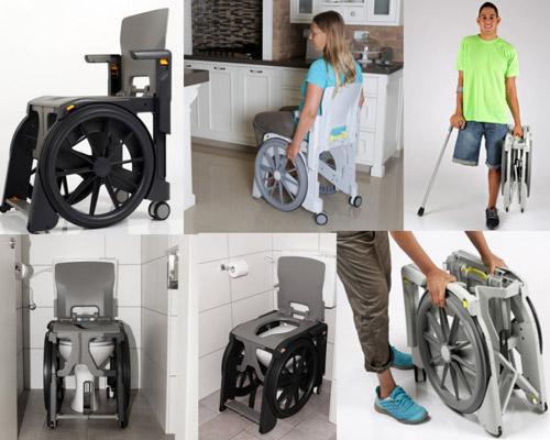 Sedie doccia per disabili sollevati